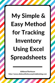 Tracking Inventory Excel My Simple And Easy Method For Tracking Product Inventory Using Excel