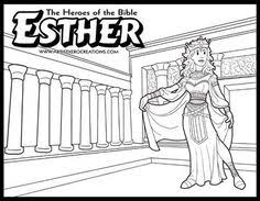Esther Bible Coloring Pages