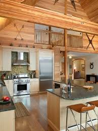 Inspiration For A Rustic L Shaped Kitchen Remodel In Philadelphia With  Flat Panel Cabinets
