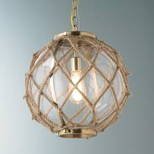 Nautical Globe Pendant Light Jute Rope Globe Pendant Beach House Lighting Coastal