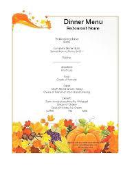 Word Restaurant Menu Templates Fine Dining Restaurant Menu Template Design Dine In Menu Template