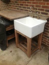 old butler s sink outside kitchen diy outdoor shed plan