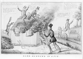HarpWeek   American Political Prints             Medium Image Complete Explanation  A satire on the Barnburners  a radical faction of New York State Democrats  led by John Van Buren  whose commitment to social and