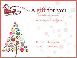 Printable Gift Certificate Templates Christmas Gift Certificate Bravebtr