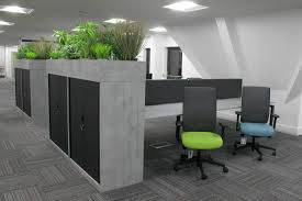 office interior design london. Green Artificial Office Plants And Marble Desks Implemented By Interior Designers From London Design E