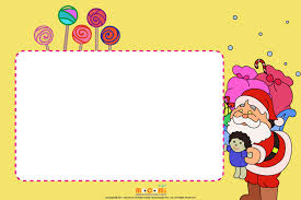 Christmas Photo Frames For Kids Christmas Candies Printable Photo Frames For Kids Mocomi