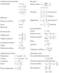 useful formulas part 1