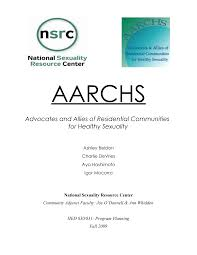 Advocates and Allies of Residential Communities for Healthy Sexuality