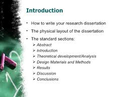 Introduction  lt ul gt  lt li gt How to write your research dissertation