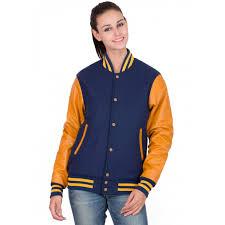 leather sleeves varsity jacket