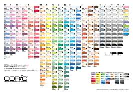 copic ciao color chart copic markers color chart