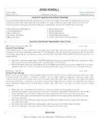 Example Of Construction Resume Cool Associate Project Manager Resume Objective Sample Government And