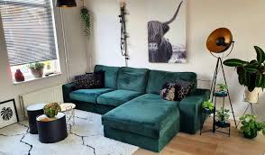 ikea kivik 2 seater with chaise longue