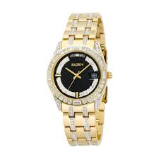 interiordemocrats org elgin mens fg131 n crystal elgin mens gold watch crystal accents