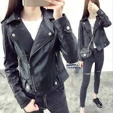 black rivet coat female new design spring autumn leather jacket faux soft leather coat slim black rivet black rivet coat womens black rivet wool car coat w