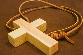 picture of wooden cross necklace for monk costume