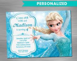 make your own frozen invitations elsa invitation etsy