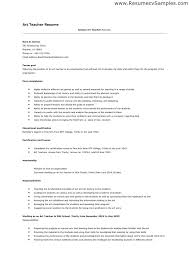 Resume For Teaching Position Magnificent Cv Format For Teaching Position Resume Template Letsdeliverco