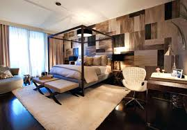 master bedroom design ideas canopy bed. master bedroom design ideas canopy bed awesome masculine with wooden and white fur rug also office chair