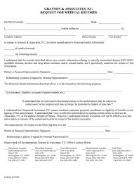 Medical Record Release Letter Compliant Medical Records Release Form Health Record Template Sample
