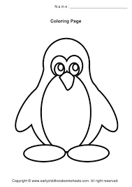 penguin coloring pages easy and simple for early childhood kids to color many free printable mandala geometric color pages easy