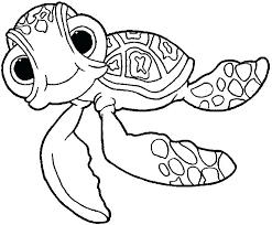 Finding Nemo Coloring Pages Free For Children Infusr Org Page Squirt