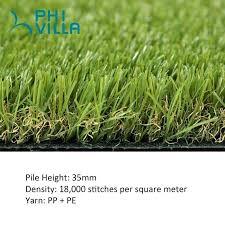 phi villa artificial grass area rug indoor outdoor green turf