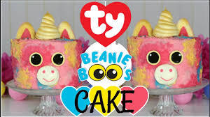 Baby Boos Designs Unicorn Beanie Boo Cake Baking Tutorial Fun Trend Vlog