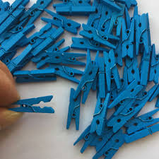 25 Cute Mini Royal Blue Clothes Pins 1