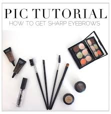 pic tutorial how to get sharp eyebrows in 5 steps