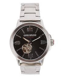 quiksilver kombat automatic watch silver black surfstitch silver black mens accessories quiksilver watches eqywa3007xssk