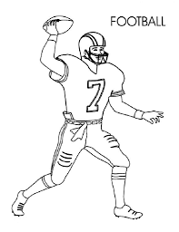 Small Picture Football Coloring Pages for Preschoolers Activity Shelter