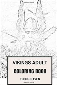 amazon vikings coloring book norse history and scandinavian warrior tradition inspired coloring book coloring book for s