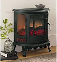 curved panoramic electric fireplace stove