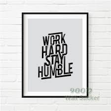 inspiration e work hard canvas art print painting poster wall pictures for home