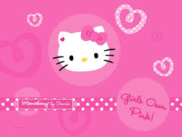 Pretty Hello Kitty Pink Background
