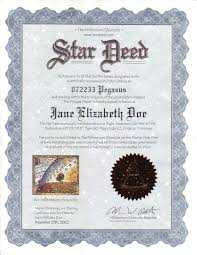 a personalized parchment star deed certificate suitable for framing