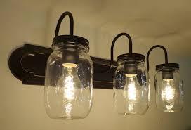 mason jars lighting. mason jar vanity 3light new quart clear the lamp goods jars lighting