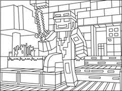 Minecraft Coloring Pages Minecraft Ninja Coloring Pages Great Free