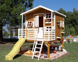 wood outdoor playhouses girls boys green house tierra este 54724