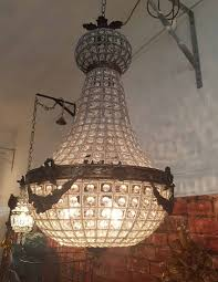 antique chandelier crystal dome