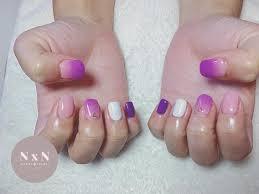 紫がお好きと言うことで ピンク紫のグラデ アイボリー紫ピンク