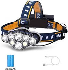 3500 Lumens COB <b>LED Headlamp</b> USB Rechargeable <b>Strong Light</b> ...