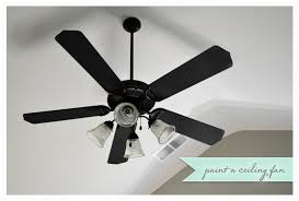 transform an old ceiling fan with paint