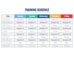 Training Programme Schedule Format This Interactive Training Schedule Storyline Template Is