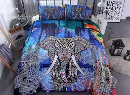 57 3d colorful elephant printed ethnic style polyester 3 piece bedding sets duvet covers