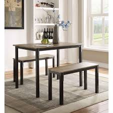 4d concepts boltzero 3 piece walnut and black dining set