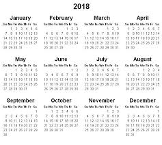 Yearly Calendar 2018 Calendar Monthly Printable