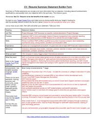Gallery Of Best Example Resumes 2017 Resume Summary Statement