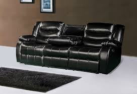 black leather reclining sofa. Black Leather Reclining Sofa E